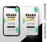 elegant grand opening mobile... | Shutterstock .eps vector #1741653548