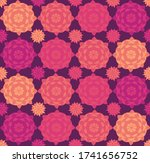 seamless repeating pattern of... | Shutterstock .eps vector #1741656752