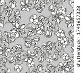 seamless floral pattern in... | Shutterstock .eps vector #1741657328