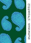 seamless pattern with indian... | Shutterstock .eps vector #1741665512