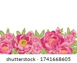 horizontal background with pink ... | Shutterstock .eps vector #1741668605
