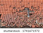Storm Damage To A Tiled Roof ...
