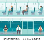 urban public transport.... | Shutterstock .eps vector #1741715345