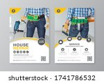 construction tools cover  back... | Shutterstock .eps vector #1741786532