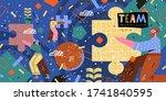 teamwork. modern vector...   Shutterstock .eps vector #1741840595