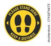 social distancing. billboard... | Shutterstock .eps vector #1741874675