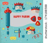 jewish holiday purim set of... | Shutterstock .eps vector #174188588