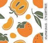 Cute Persimmon Seamless Pattern....
