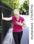 angina pectoris  elderly person | Shutterstock . vector #174190742