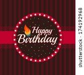 birthday card   Shutterstock .eps vector #174192968