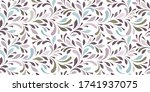 decorative flowery pattern with ...