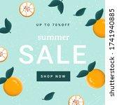 summer sale web banner template ... | Shutterstock .eps vector #1741940885