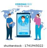 medicine online  doctor...   Shutterstock .eps vector #1741945022