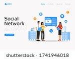 social network vector...