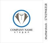 tuxedo logo template vector... | Shutterstock .eps vector #1741946318