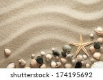 sandy beach background with... | Shutterstock . vector #174195692