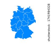 germany map outline icon.... | Shutterstock .eps vector #1741984328