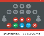 set of button icon for online...
