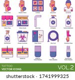 tattoo icons including fresh ... | Shutterstock .eps vector #1741999325