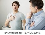 asthma  man | Shutterstock . vector #174201248