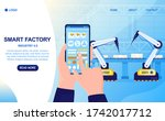 smart factory colorful concept. ... | Shutterstock .eps vector #1742017712