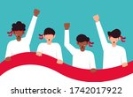indonesia independence day... | Shutterstock .eps vector #1742017922