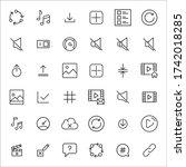 big set of symbols line icons....