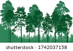illustration with green forest... | Shutterstock .eps vector #1742037158