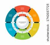 infographic circular chart...   Shutterstock .eps vector #1742037725