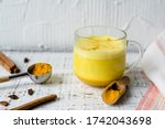 Golden Milk With Curcuma Powder ...