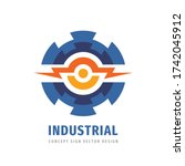 industry gear logo design.... | Shutterstock .eps vector #1742045912