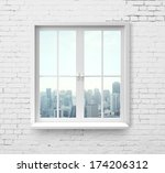 Modern Window With Skyscraper...