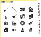 music icons set with metronome  ...