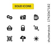 ui icons set with gears ...