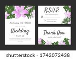 wedding invitation  thank you ... | Shutterstock .eps vector #1742072438