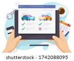 vehicle auto rental comparing... | Shutterstock . vector #1742088095
