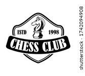 chess club emblem template.... | Shutterstock .eps vector #1742094908