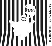 boo ghost halloween message...   Shutterstock .eps vector #1742122958