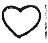 black heart sign painted by... | Shutterstock . vector #174212495
