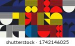 geometric vector design with... | Shutterstock .eps vector #1742146025