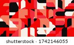 modern artwork of abstract... | Shutterstock .eps vector #1742146055