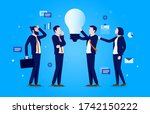 working with ideas   four...   Shutterstock .eps vector #1742150222