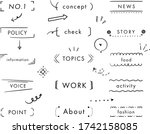this is set of handwriting... | Shutterstock .eps vector #1742158085