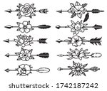 set of indian arrows with...   Shutterstock .eps vector #1742187242