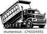 dump truck vector illustration...   Shutterstock .eps vector #1742224352