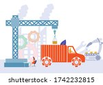easy to edit vector... | Shutterstock .eps vector #1742232815