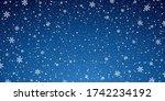 snow blue background. christmas ... | Shutterstock .eps vector #1742234192