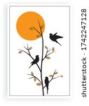 branch illustration with birds... | Shutterstock .eps vector #1742247128