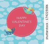 happy valentine's day... | Shutterstock .eps vector #174225086