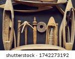 Vintage Loom Wood Shuttle...
